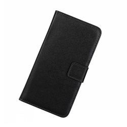 Plånbokfodral Huawei P-Smart Z, Äkta skinn Svart