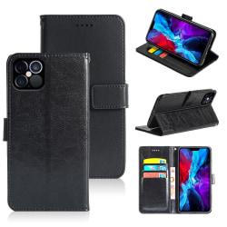 Plånboksfodral iPhone 12 / 12 Pro, 3 kort med ID, Svart Svart