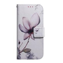 Plånboksfodral, Samsung S10+, Blomma Rosa