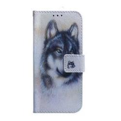 Plånboksfodral, Samsung S10+, Varg grå