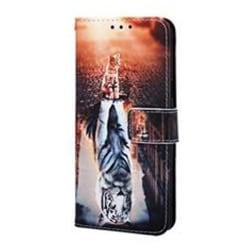 Plånboksfodral, Samsung S20, Katt/Tiger multifärg