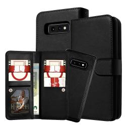 Plånboksfodral Samsung S21 Plus 5G, 9 kort + Magn. hållare Svart