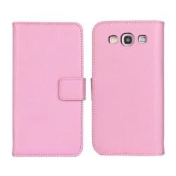 Plånboksfodral Samsung S3 äkta skinn Rosa