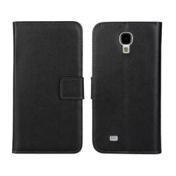 Plånboksfodral Samsung S4 äkta skinn, Svart Svart