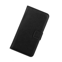 Plånboksfodral Samsung Xcover 4, Äkta skinn, Svart Svart