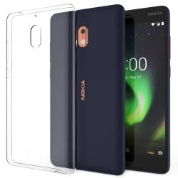 Skal för Nokia 2.1 i genomskinligt gummi Transparent