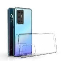 Skal i genomskinligt gummi, Huawei P40 Pro Transparent