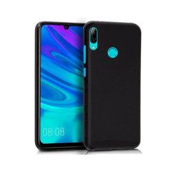 Skal i gummi, Huawei Y6 2019,  Matt Svart Svart