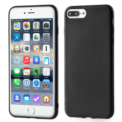 Skal i gummi (TPU), iPhone 7 PLUS / 8  Plus, Mattsvart Svart