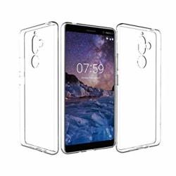 Skal Nokia 7 Plus i genomskinligt gummi Transparent
