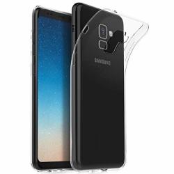Skal Samsung A8 Plus 2018 i genomskinligt gummi Transparent