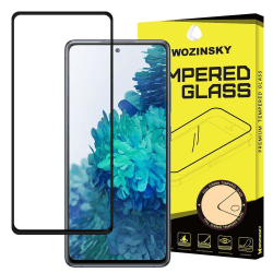 Skärmskydd Samsung A52 i härdat glas Fullskärm Svart