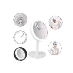Sminkspegel med belysning och inbyggt fläkt Vit