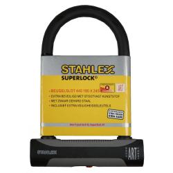 Stahlex cykellås - Bygellås - 18cm x 24.5cm - Superlock Svart
