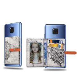 Universal kortficka, 2 kort + ID + Sedlar, Marmor Blå