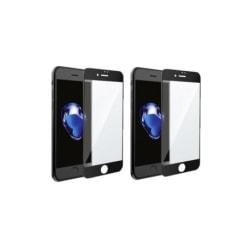2-pack - Premium svart heltäckande härdat glas - iPhone 6/7/8/SE