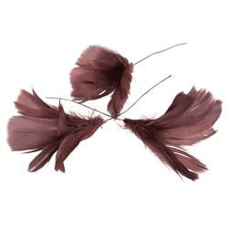 Fjäderblommor mörkrosa 12-pack