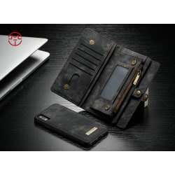 Case Me magnetic wallet  - iPhone XS Max Svart