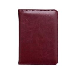 RFID Passport Wallet Vin, röd