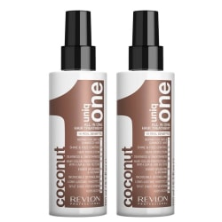 2-Pack Revlon Uniq One All In One Hair Treatment Coconut 150ml Transparent
