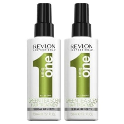 2-Pack Revlon Uniq One All In One Hair Treatment Green Tea Scent Transparent