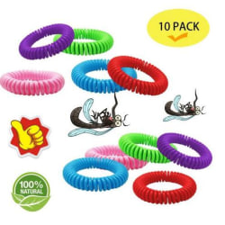 Antimyggband 10 pack - 100% Naturliga - 2x5 färger