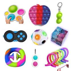 PRO set - 14 st. Fidget Toys Set för barn och vuxna NYHET multifärg one size