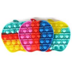 Pop It Fidget Toy Original - Rainbow Apple - CE Godkänd multifärg one size