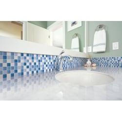 Dekorplast Mosaik Blå Struktur