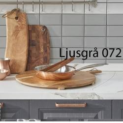Kakeldekor 12-pack ljusgrå, blank, 15x15 cm