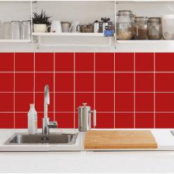 Kakeldekor 30-pack röd, matt, 148x148 mm