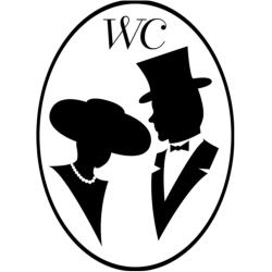 WC Damer & Herrar Väggdekor Toalett symbol