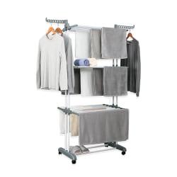 Herzberg HG-8034GRY: Rörlig klädställning - Grå