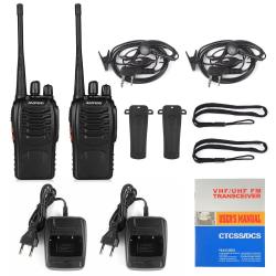 2-Pack Baofeng BF-888S UHF Tvåvägsradio / Walkie Talkie Svart