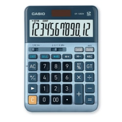 Räknare Casio DF-120EM, Blå