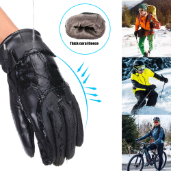 Unisex USB Electrically Heated Gloves Windproof Cycling Skiing Black,
