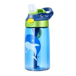 16oz/480ml Water Bottle Kid BPA-Free Leakproof Sports Portable Blue