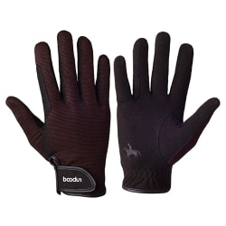 Horse Riding Gloves Equestrian Non-Slip Racing Gloves Coffee M