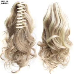 Wavy Curly Hair Claw Clip Ponytail Wig Long Hair Extension Ash Blonde