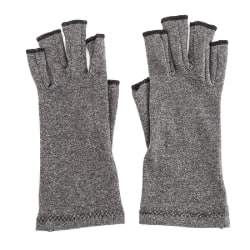 Anti Arthritis Copper Fingerless gloves compression therapy Grey,M