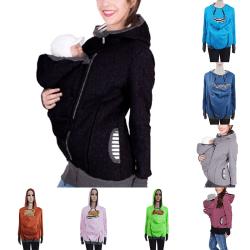Baby Carrier Ladies Kangaroo Pocket Hoodie Sweater Jacket Color blue,XXL