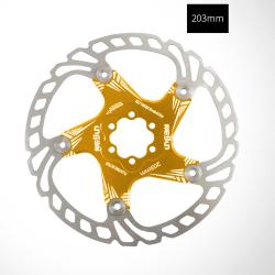 Bicycle Brake Disc Float Rotor 140/160/180/203mm 6 Bolt Rotors Gold 203mm