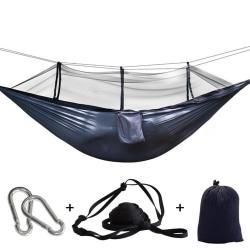 Camping Double Hammock W/ Mosquito Net Garden Swing Chair Black
