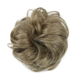Curly Messy Bun Hair Piece Scrunchie Cover Extensions Real Human Light Brown#02