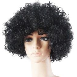 Cury Fancy Dress Wigs Funky Disco Clown Style Costume Hair Black