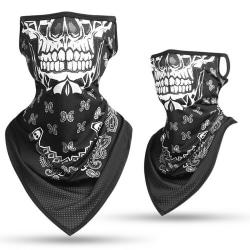 Cycling Neck Gaiter Scarf Ear Loops Headband Masks Cover Sport Neoklace Skull