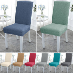 Dining Chair Cover Slip Stretch Wedding Banquet Party Removable Gray