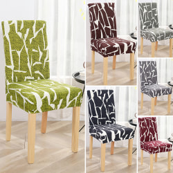 Dining Chair Covers Art Slipcover Stretch Wedding Party Décor Dark Gray