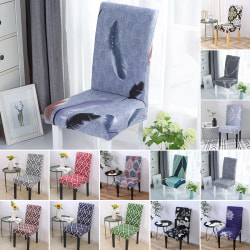 Dining Chair Covers Removable Stretch Universal Protective Cover Gray#12
