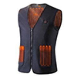 Electric Vest Heated Jacket USB Warm Up Pad Winter Unisex Black,XXL